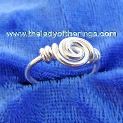 Viking spiral Ring (child size), silver